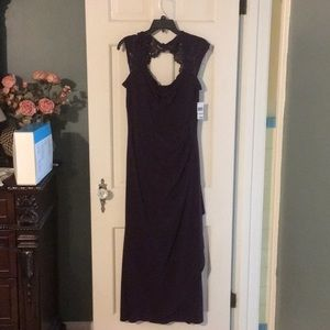 Plum formal gown